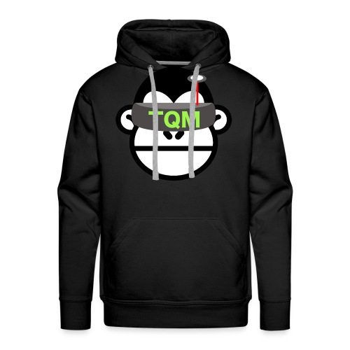 Team Quad Monkey Black Men's Hoodie - Men's Premium Hoodie