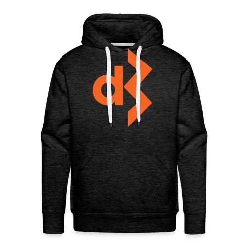 Orange DB Logo Hoodie - Men's Premium Hoodie