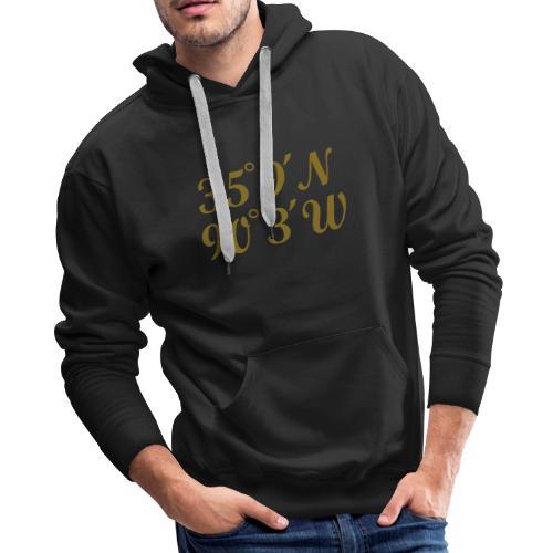 Memphis, Tennessee Coordinates Hoodie (Men/Gold) - Men's Premium Hoodie