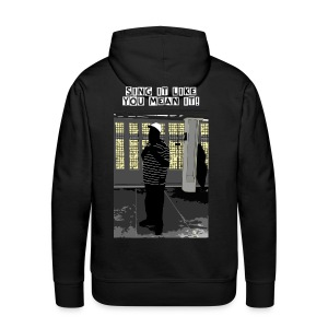 Sing It Like You Mean It - NYC Subway Singer - Mens Hoodie - Men's Premium Hoodie