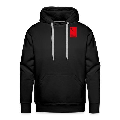 Red Chargers Basic Black Hoodie - Red Front Logo - Men's Premium Hoodie