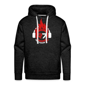 May Cause Fire Men's Hoodie (Charcoal) - Men's Premium Hoodie