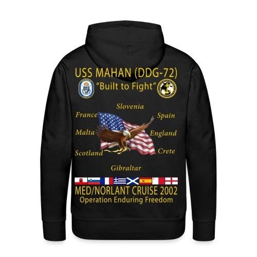 USS MAHAN DDG-72 2002 CRUISE HOODIE - Men's Premium Hoodie