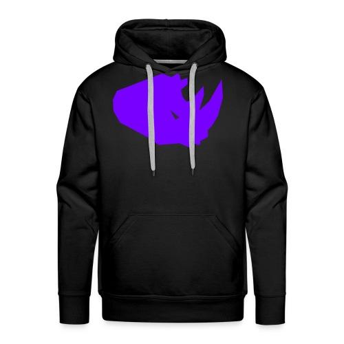 RiNO Hoodie Purple Logo - Men's Premium Hoodie