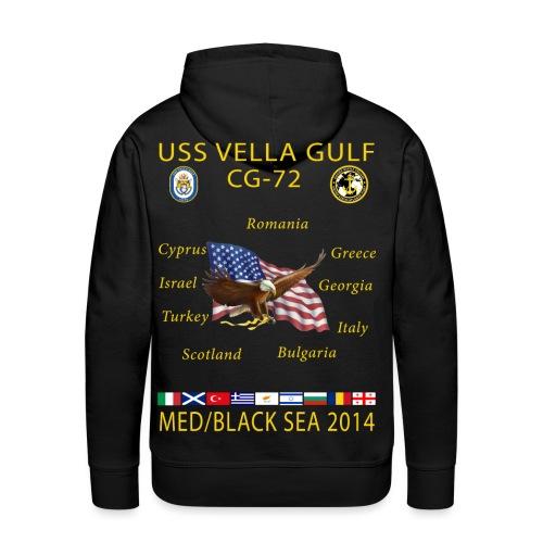 USS VELLA GULF CG-72 2014 CRUISE SHIRT HOODIE - Men's Premium Hoodie