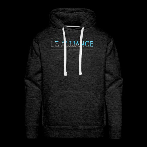 Lz Alliance Blue Lettering Sweater - Men's Premium Hoodie