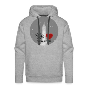 Eye Love New York Empire State Building - Men's Premium Hoodie