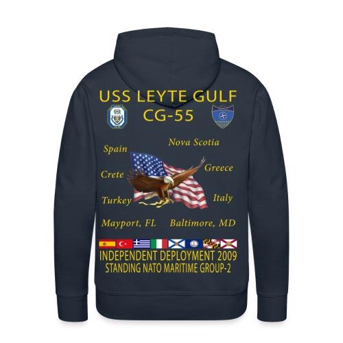 USS LEYTE GULF CG-55 2014 CRUISE HOODIE - Men's Premium Hoodie