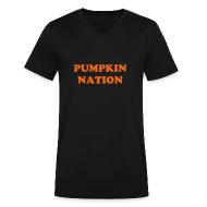 T-Shirts ~ Men's V-Neck T-Shirt by Canvas ~ Pumpkin Nation (V Neck)