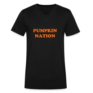 Pumpkin Nation (V Neck) - Men's V-Neck T-Shirt by Canvas