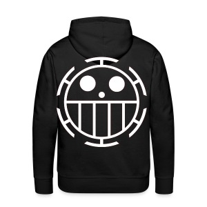 Men's Premium Hoodie - Unlike many other pirates from the North Blue, the Heart Pirates do not use a skull and crossbones, but a smiley face instead