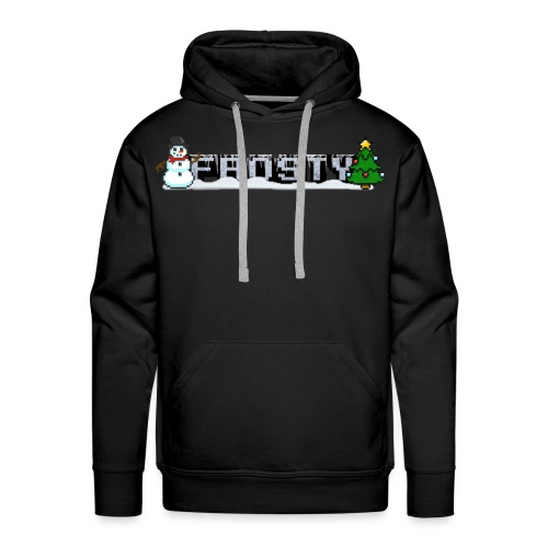 Frosty Mens Holiday Hoodie - Men's Premium Hoodie
