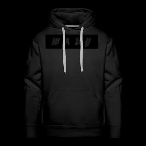 Black/Black Box Logo Hoodie - Men's Premium Hoodie