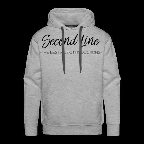 Second Line Black Print Premium Hoodie - Men's Premium Hoodie