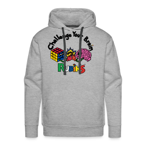 Rubik's Cube Challenge Your Brain - Men's Premium Hoodie