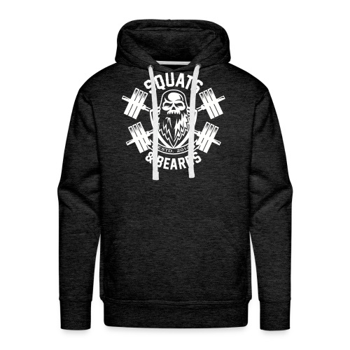 Squats and Beards Pull-Over Sweatshirt - Grey - Men's Premium Hoodie