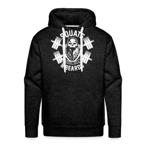 Squats and Beards Pull-Over Sweatshirt - Grey - Men's Premium Hoodie