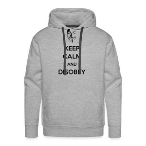 Keep Calm And Disobey AnonMask - MEN - Men's Premium Hoodie