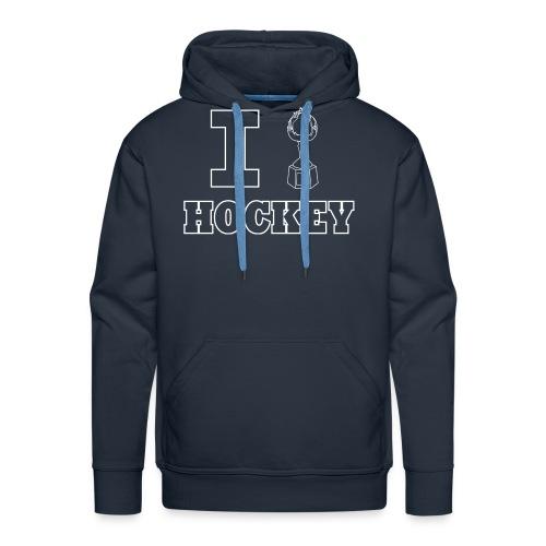 I Hart Hockey-Men's Hoodie - Men's Premium Hoodie