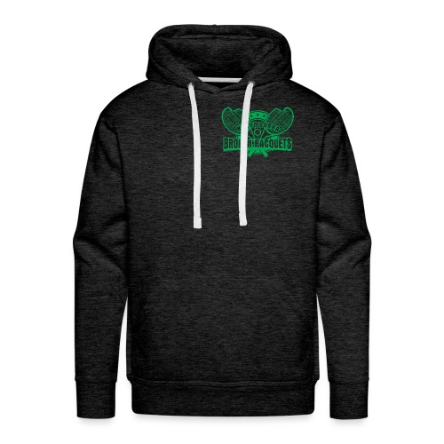 Men's hoody green breast logo - Men's Premium Hoodie