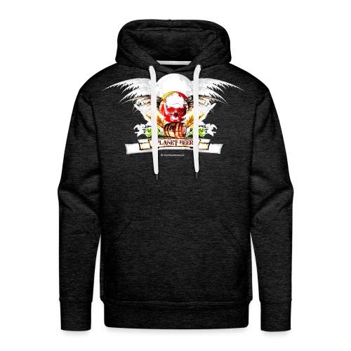 Planet Beer Skull & Keg Gothic Men's Premium Hoodie - Men's Premium Hoodie