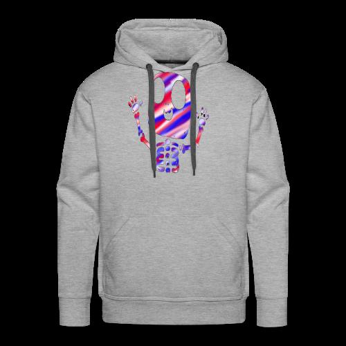 Patriotic Skeleton Hoodie - Men's Premium Hoodie