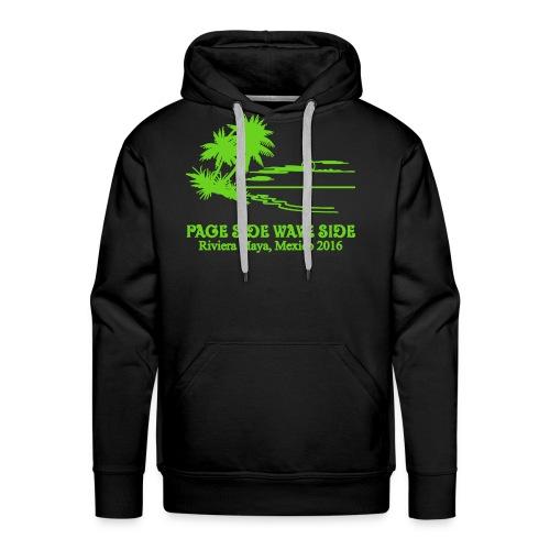 Mens premium page side wave side hoodie - Men's Premium Hoodie