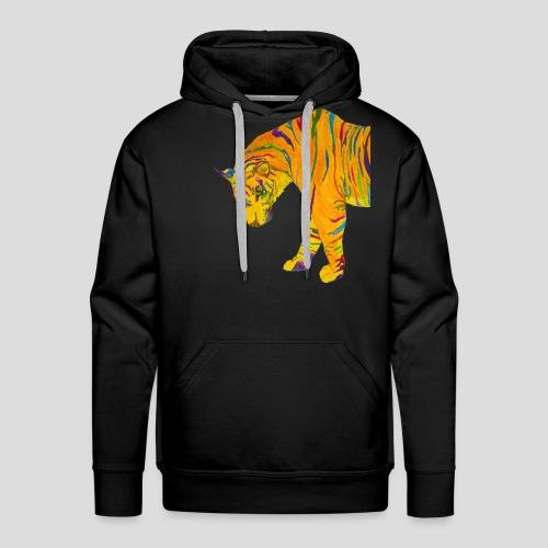 Contemplative Tiger men's premium hoodie - Men's Premium Hoodie