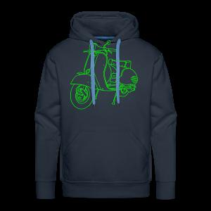 Motor scooter (neon-green) - Men's Premium Hoodie