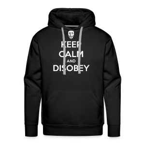 Keep Calm And Disobey AnonMask Black - MEN - Men's Premium Hoodie