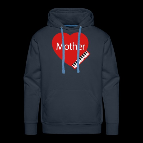 Mother's Day Heart & Piano - Men's Premium Hoodie