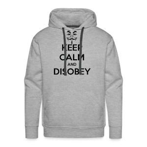 Keep Calm & Disobey Anon Mask - MEN - Men's Premium Hoodie