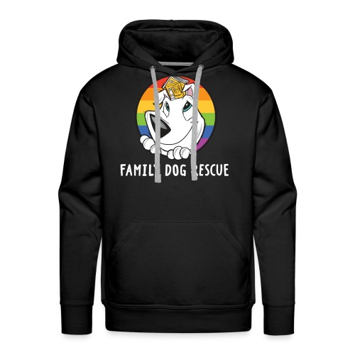 Family Dog Rescue Pride (Dog + Human = Family on Back): Men's Hoodie - Men's Premium Hoodie