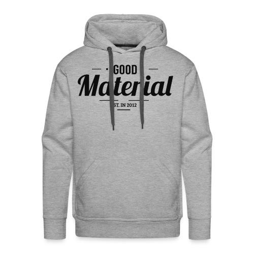 Grey material hoodie - Premium - Men's Premium Hoodie