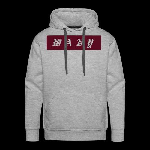 Maroon Box Logo Hoodie - Men's Premium Hoodie