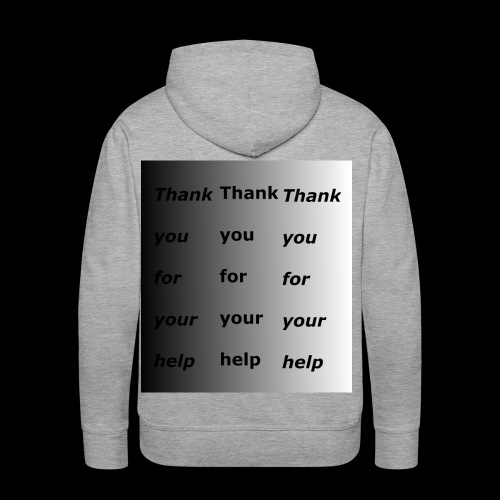 the thank you shirt - Men's Premium Hoodie