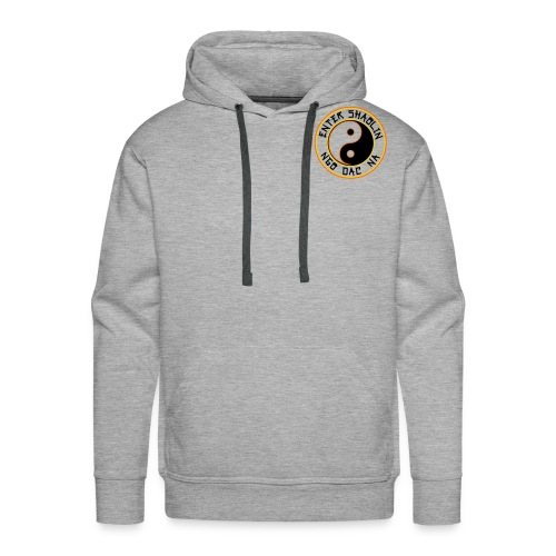 Enter Shaolin Men's Heavyweight Pullover Hoodie Heather Gray (Black Lettering) - Men's Premium Hoodie
