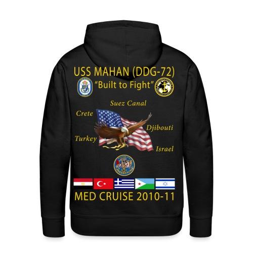USS MAHAN DDG-72 2010-11 CRUISE HOODIE - Men's Premium Hoodie