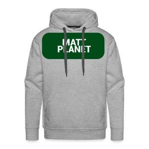 Matt Planet Men's Premium Hoodie - Gray - Men's Premium Hoodie