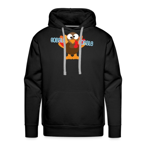 Cute Gobble Gobble Turkey - Men's Premium Hoodie