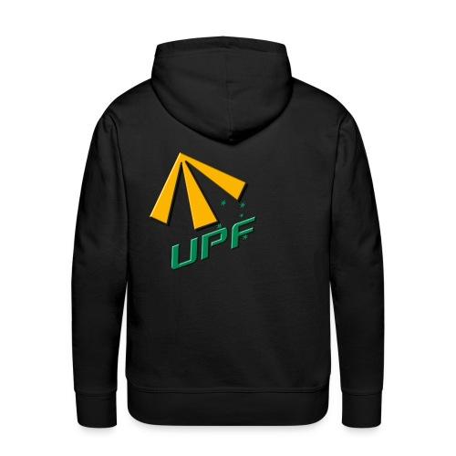UPF Streetwear Hoodie - Mens Black - Men's Premium Hoodie