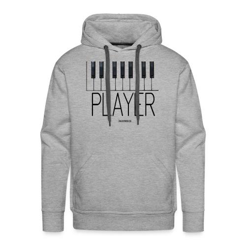Player (Piano) Premium Heavyweight Hoodie in Grey - Men's Premium Hoodie
