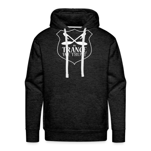 In Trance We Trust - Mens Sweatshirt - Grey - Men's Premium Hoodie