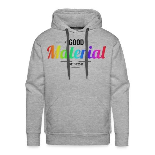 Material rainbow Hoodie (Light colors) - Premium - Men's Premium Hoodie