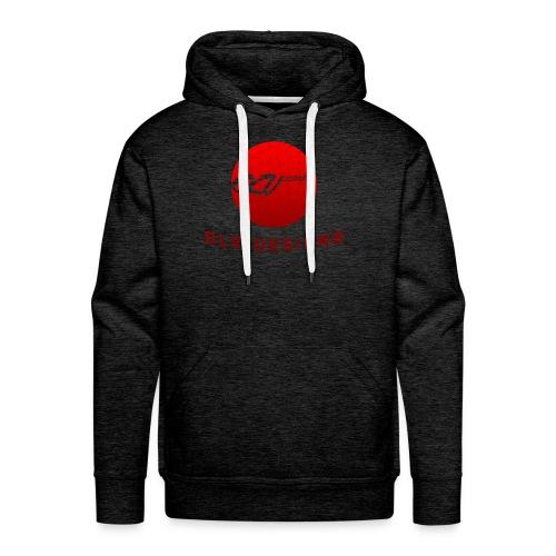 OLVDesigns Logo Hoodie - RED ON GRY - Men's Premium Hoodie
