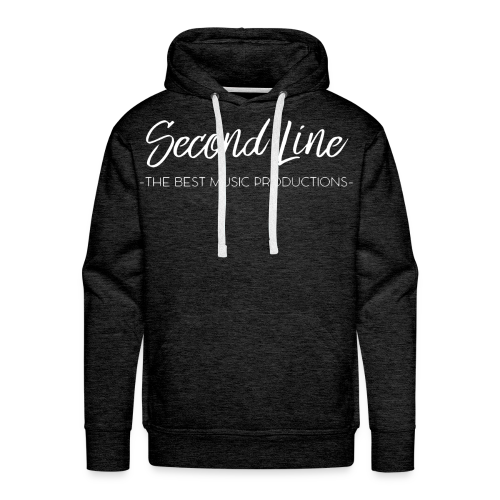 Second Line White Print Premium Hoodie - Men's Premium Hoodie
