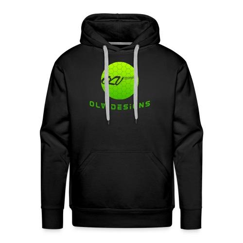 OLVDesigns Logo Hoodie - LME ON BLK - Men's Premium Hoodie
