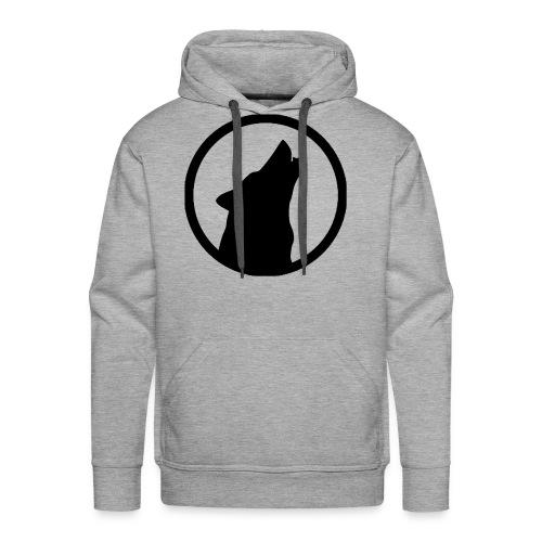 Howling Wolf Men's Premium Hoodie Black - Men's Premium Hoodie
