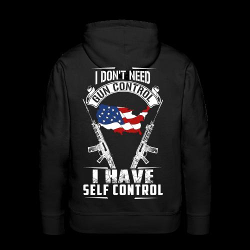 I Don't Need Gun Control Hoodie - Men's Premium Hoodie