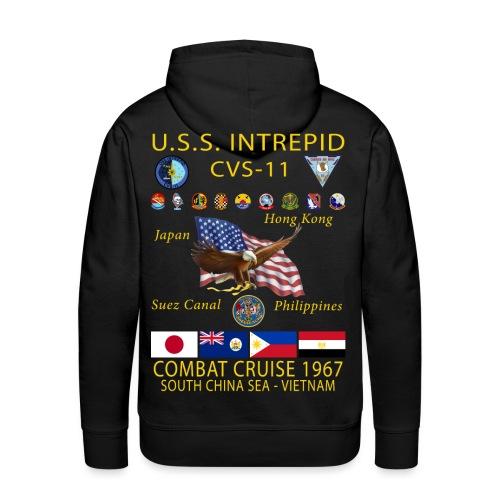 USS INTREPID CVS-11 1967 CRUISE HOODIE - Men's Premium Hoodie